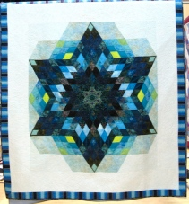 blue hex star